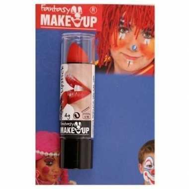 Feest/party lipstick/lippenstift mat rood carnavalskleding den bosch