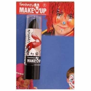 Feest/party lipstick/lippenstift mat zwart carnavalskleding den bosch