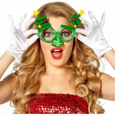 Feestbril kerstbomen volwassenen carnavalskleding den bosch