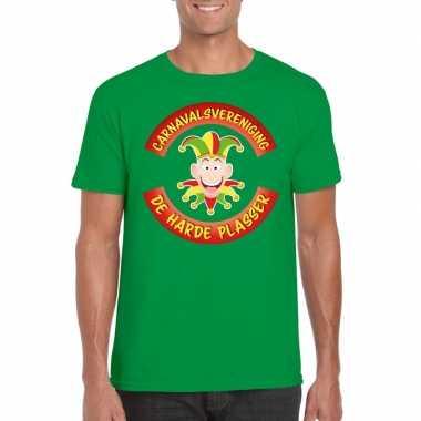 Fun t shirt limburgse carnavalsvereniging groen heren carnavalskledin