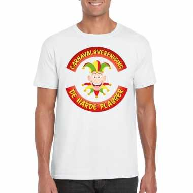 Fun t shirt limburgse carnavalsvereniging wit heren carnavalskleding