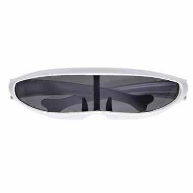 Carnavalskleding futuristische witte bril