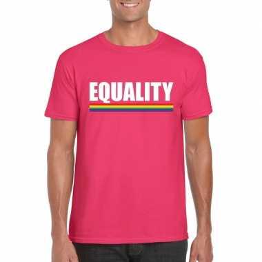 Gay pride homo shirt roze equality heren carnavalskleding den bosch