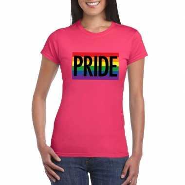 Gay pride regenboog shirt pride roze dames carnavalskleding den bosch