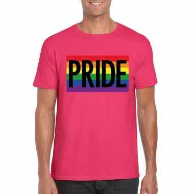 Gay pride regenboog shirt pride roze heren carnavalskleding den bosch
