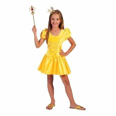 Geel prinsessenjurkje meisjes carnavalskleding den bosch