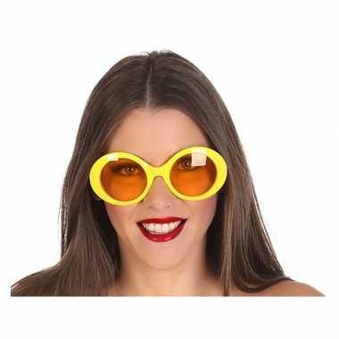 Gele dames verkleedbril carnavalskleding den bosch