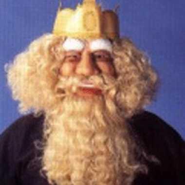 Gezichtsmasker koning latex carnavalskleding Den Bosch