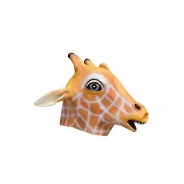 Giraffe dierenkop masker carnavalskleding den bosch