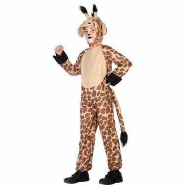 Giraffe onesie verkleedset kinderen carnavalskleding den bosch