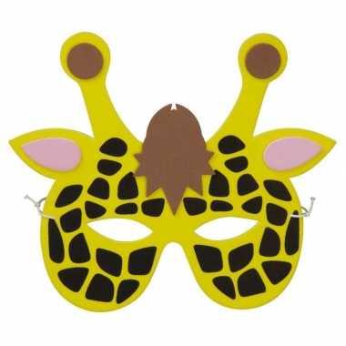 Giraffes foam masker kinderen carnavalskleding den bosch