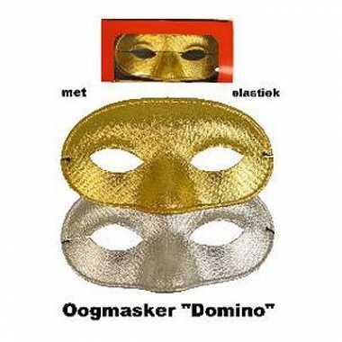 Goud- of zilverkleurig oogmasker glitters carnavalskleding Den Bosch