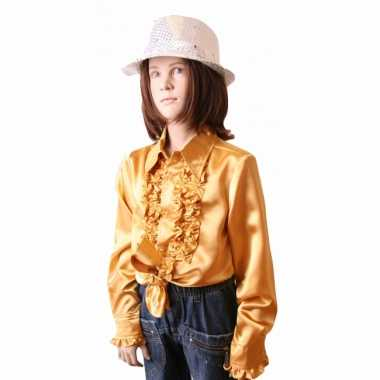Gouden hippie blouse meisjes carnavalskleding Bosch