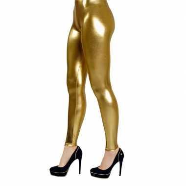 Gouden legging dames. carnavalskleding bosch
