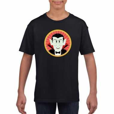 Graaf dracula halloween t shirt zwart jongens meisjes carnavalskledin