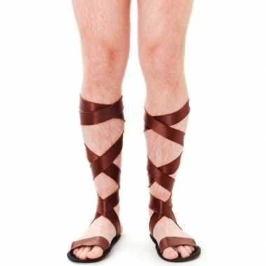 Carnavalskleding griekse bruine sandalen