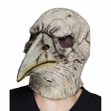 Grijze adelaar horror/halloween masker latex carnavalskleding den bos