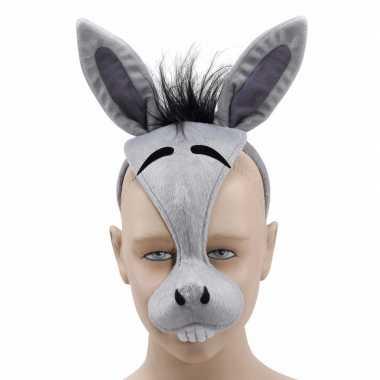 Grijze ezel masker carnavalskleding Den Bosch