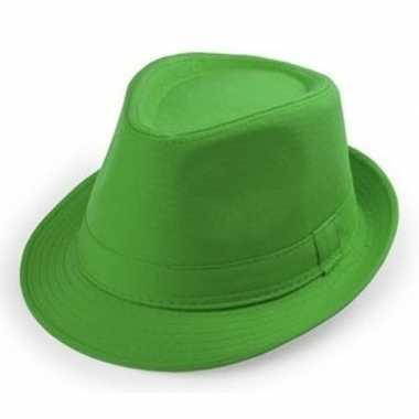 Groen hoedje trilby model volwassenen carnavalskleding den bosch