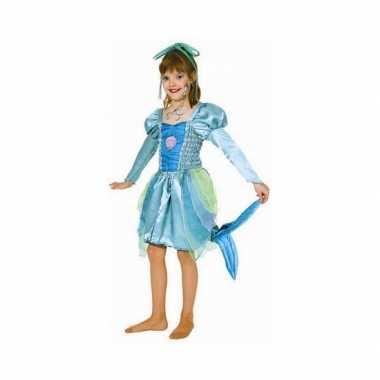 Groen zeemeermin jurkje meiden carnavalskleding bosch