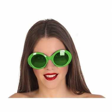 Groene dames verkleedbril carnavalskleding den bosch