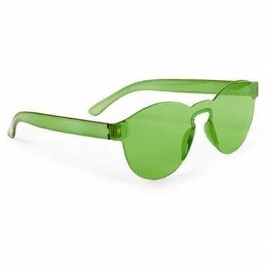 Groene feestbril volwassenen carnavalskleding den bosch