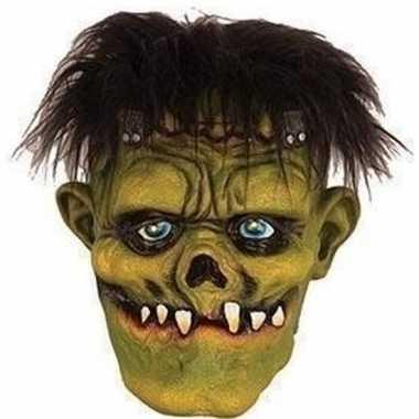 Groene frankenstein horror/halloween masker latex carnavalskleding de