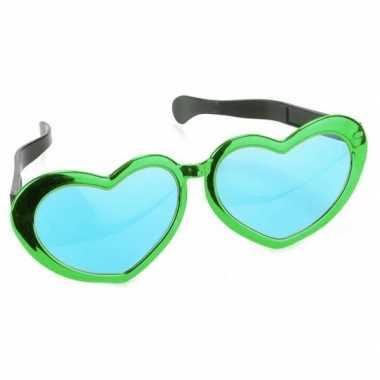 Groene hartvormige xl verkleed bril volwassenen carnavalskleding den