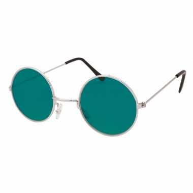 Groene hippie bril carnavalskleding den bosch