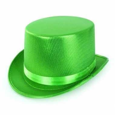 Groene hoge hoed volwassenen carnavalskleding den bosch
