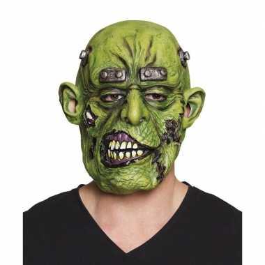Groene ogre horror/halloween masker latex carnavalskleding den bosch