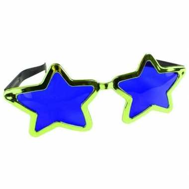 Groene stervormige xl verkleed bril volwassenen carnavalskleding den