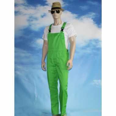Groene tuinbroek dames heren carnavalskleding den bosch