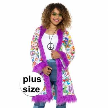 f5e6946417827c Grote maat jaren groovy verkleedjas dames carnavalskleding den bosch ...
