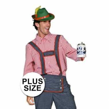 Grote Maat Tiroler Heren Blouse Carnavalskleding Den Bosch