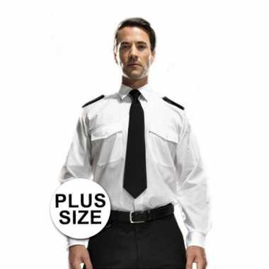 Grote maten piloten shirt carnavalskleding Den Bosch