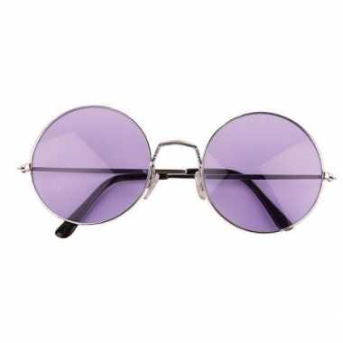 Grote paarse hippie bril carnavalskleding den bosch
