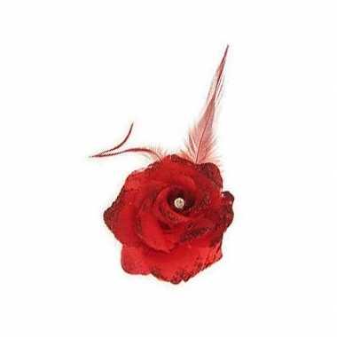 Haarspel rode bloem carnavalskleding den bosch