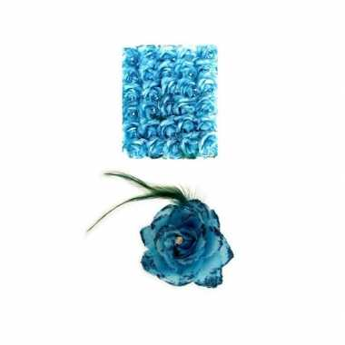 Haarspeld blauwe bloem carnavalskleding den bosch
