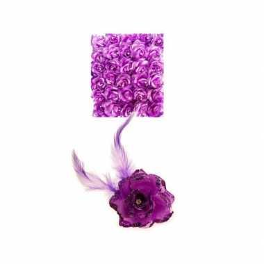 Haarspeld paarse bloem carnavalskleding den bosch