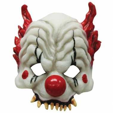 Half gezichtsmasker horror clown carnavalskleding Den Bosch