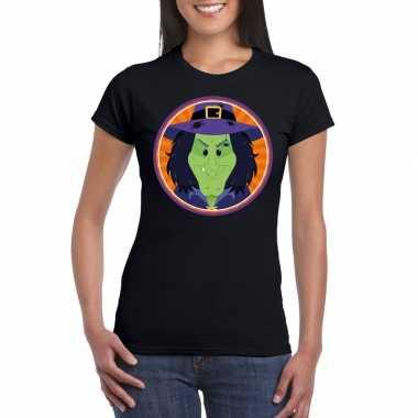 Halloween heksen shirt zwart dames carnavalskleding den bosch