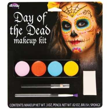 Halloween schminkset day of the dead carnavalskleding den bosch