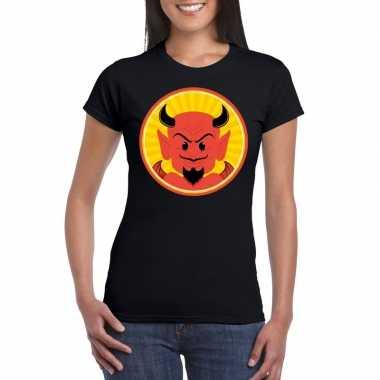 Halloween shirt zwart dames rode duivels carnavalskleding den bosch