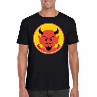 Halloween shirt zwart heren rode duivels carnavalskleding den bosch