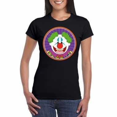 Halloween terror clown shirt zwart dames carnavalskleding den bosch