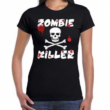 Halloween zombie killer shirt zwart dames zombie killer bedrukking ca