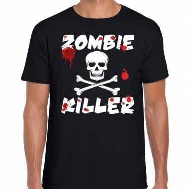 Halloween zombie killer shirt zwart heren zombie killer bedrukking ca