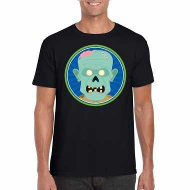Halloween zombie shirt zwart heren carnavalskleding den bosch