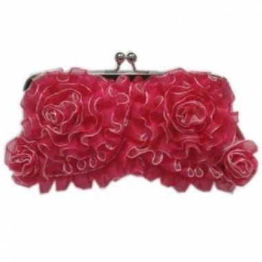 Handtasje roze rouches carnavalskleding Den Bosch